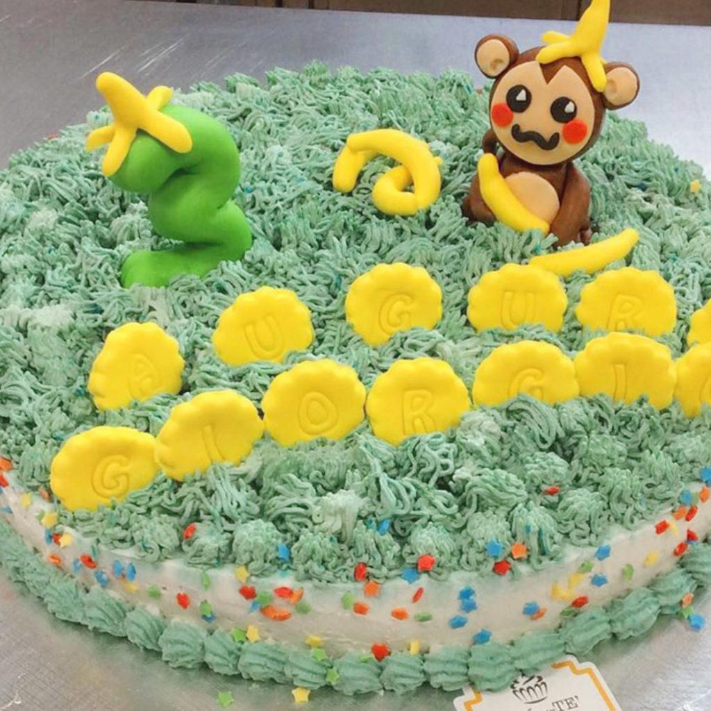torta di compleanno banana bambini