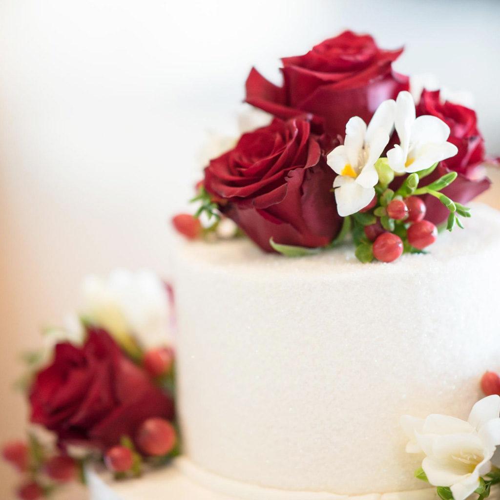 cake topper rose rosse