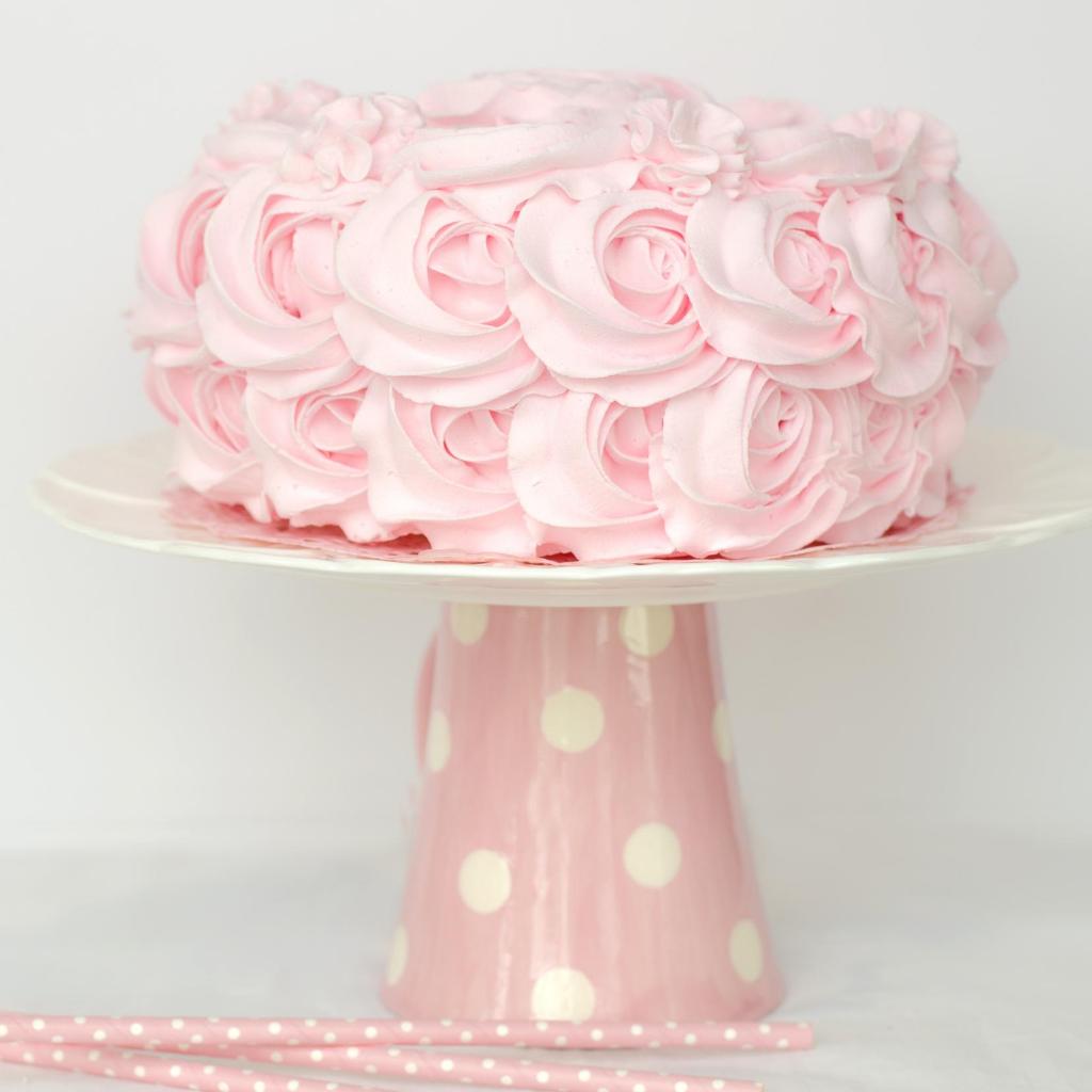 torta rosa battesimo pavia
