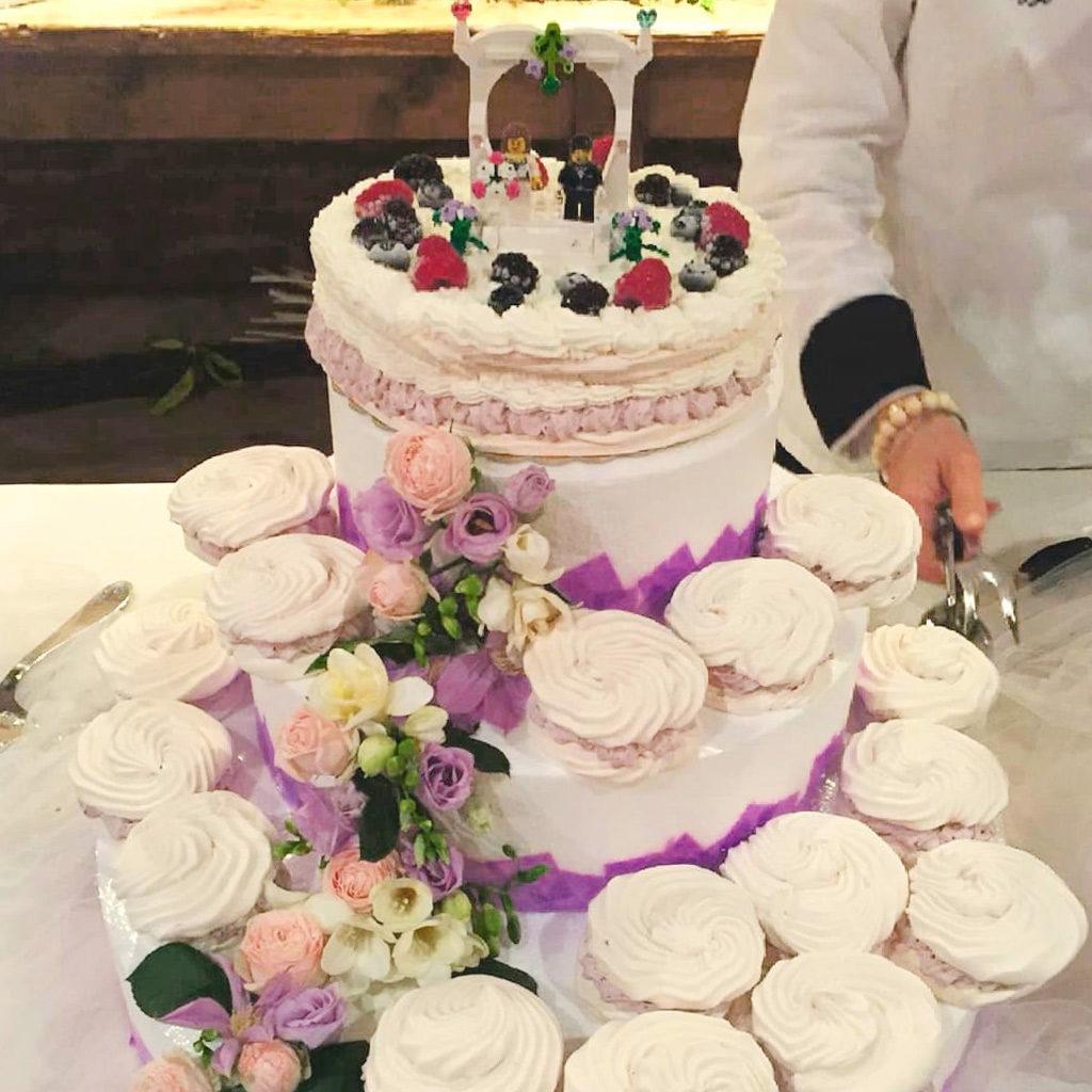 torta matrimonio lego panna