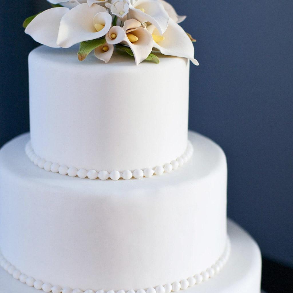wedding cake bianca perle calle