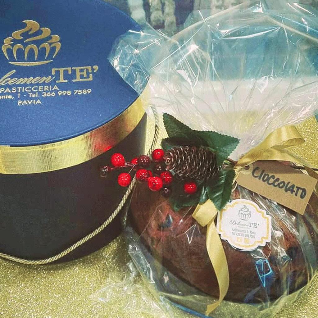 panettone artigianale al cioccolato - pasticceria pavia dolcemente'