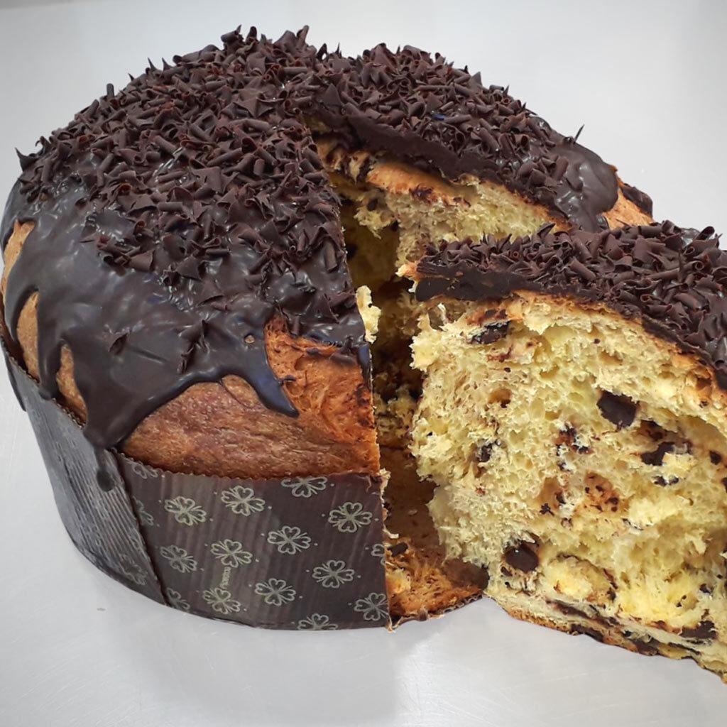 panettone al cioccolato pasticceria pavia